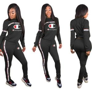 Champion lettered two piece jumpsuit